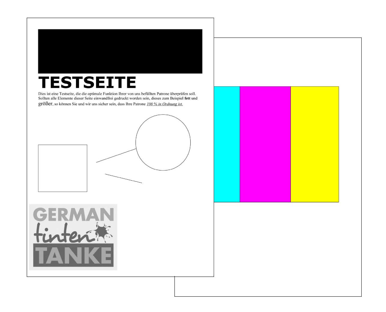 Ziemlich Canon Farbdrucker Testseite Fotos - Beispiel Business ...