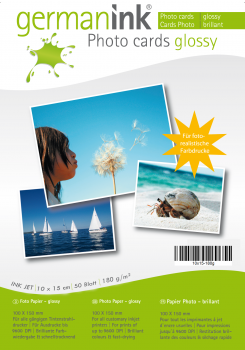 German Ink Photo Cards - 180 g/m² - 10x15cm; 50 Blatt